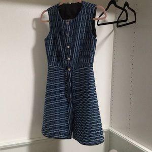Maje A line blue dress  size1
